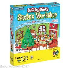 Creativity for kids shrinky dinks santa s workshop christmas crafts