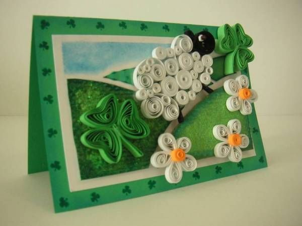 Quilled Sheep and Shamrocks Card! | FILIGRANA | Pinterest