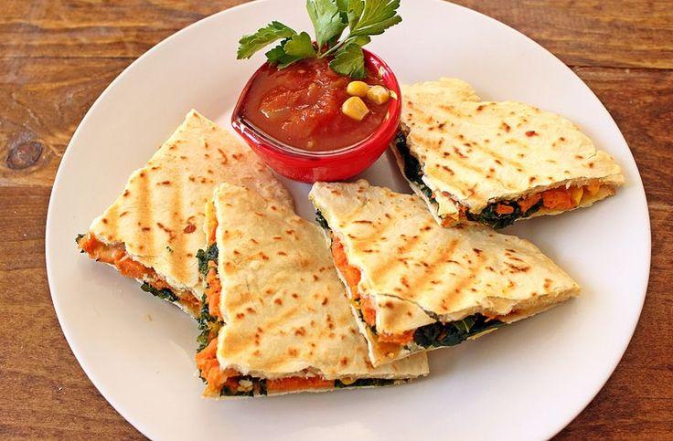 Sweet Potato and Kale Quesadilla   Meal Plan Monday   Pinterest