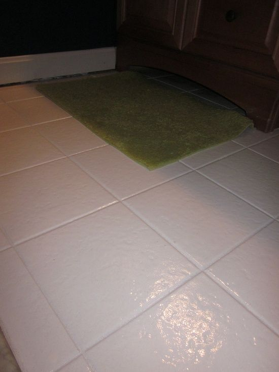 You Can Paint A Tile Floor Obsessed Diy Pinterest