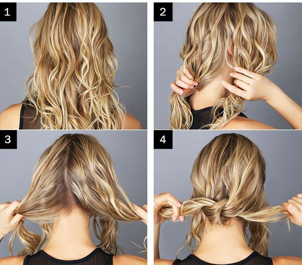 cute hairstyles step by step for medium hair images