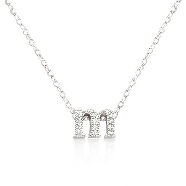 white gold initial necklaces white gold