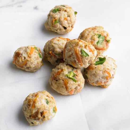 mini ground turkey meatballs