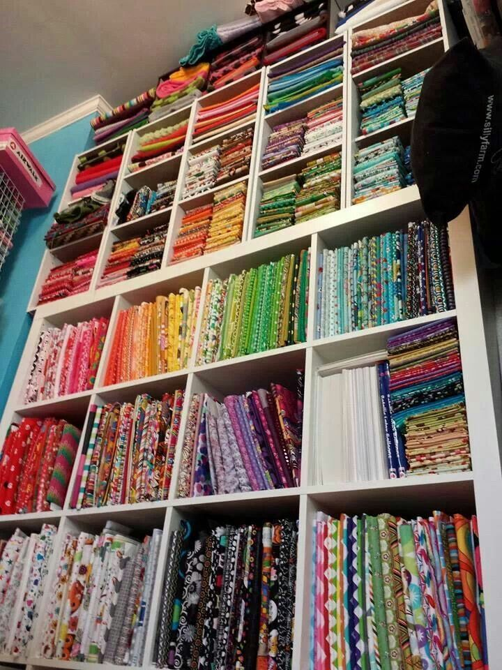Fabric Storage Sewing Room Ideas Pinterest