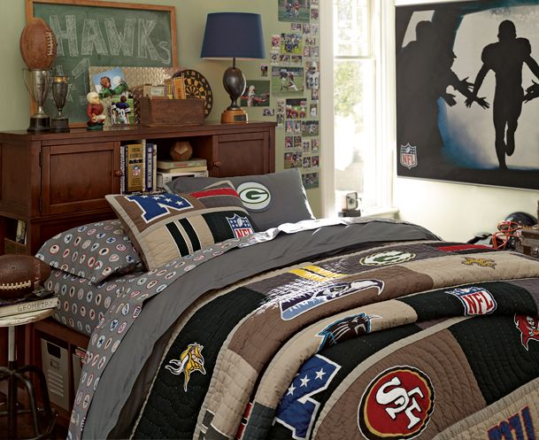 Nfl sports bedding teen boy bedrooms pinterest