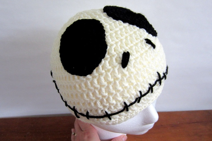 Crochet Jack Skellington : jack skellington hat $16-$20 #crochet The Tigers Den: A Crochet Sh ...