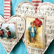 Vintage Valentine Ornaments