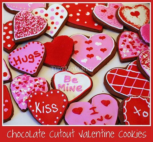 Chocolate {Valentine} Cutout Decorated Cookies Chocolate at TidyMom ...