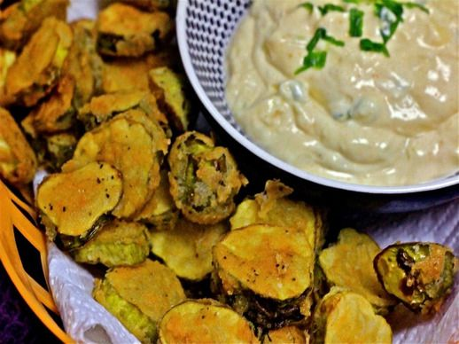 Fried Pickles With Spicy Mayo Recipe — Dishmaps