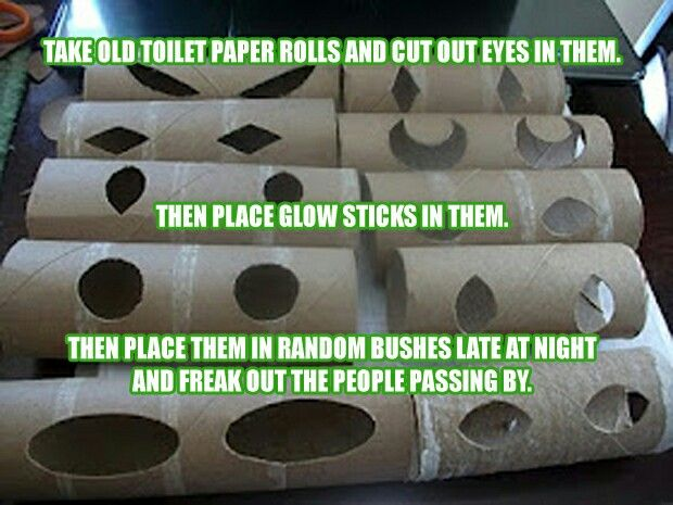 Toilet paper roll ideas diy projects home remedies for Glow sticks in toilet paper rolls