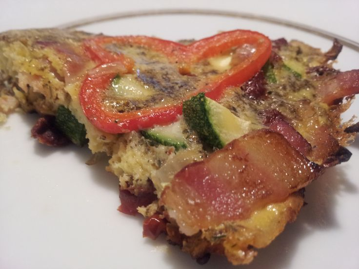 Bacon & Squash Frittata with Sun-dried Tomatoes from http ...