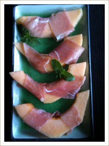 Melon Wrapped in Prosciutto   Sweet and Savory and more   Pinterest