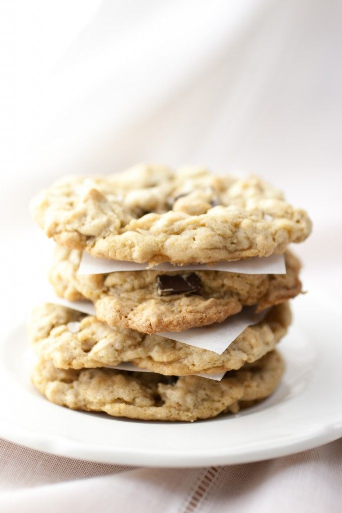 Salted Peanut Butter Chocolate Chip Oatmeal Cookies | Recipe