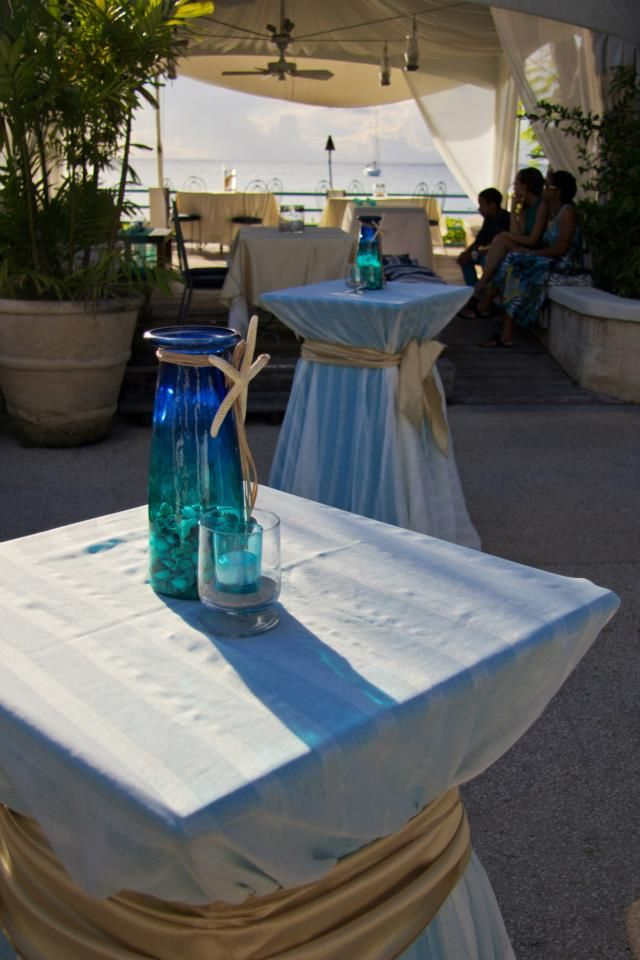 Cocktail tables with table decor