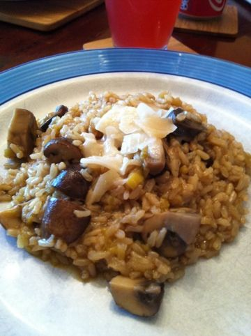 Slow Cooker Mushroom and Leek Risotto (Vegetarian)..SLOWCOOKER YAY!!
