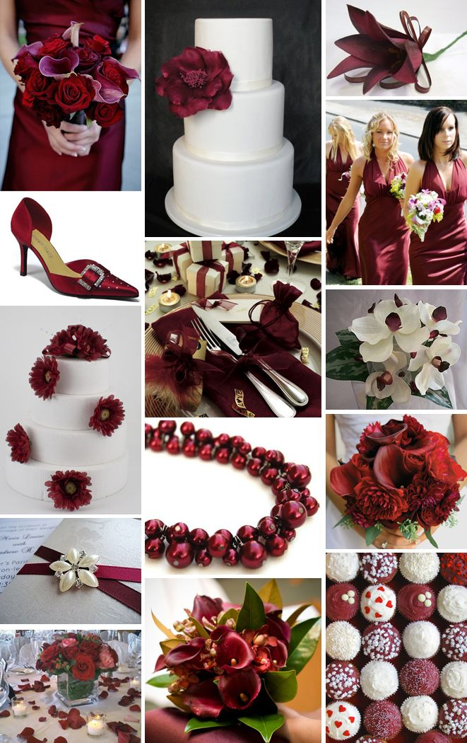 Burgundy and ivory winter wedding ideas pinterest - Burgundy and white wedding decorations ...