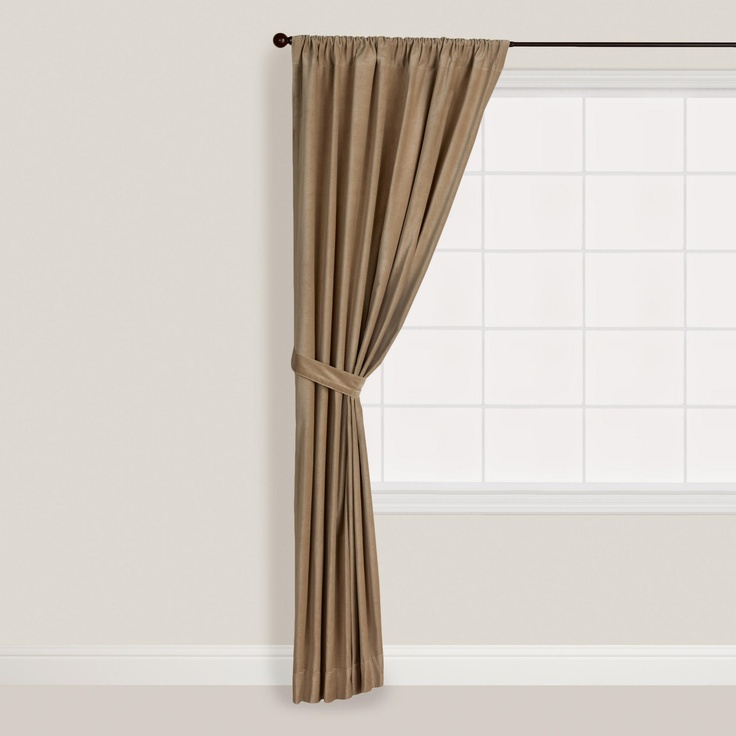 Latte Velvet Curtain | World Market | livingroom | Pinterest