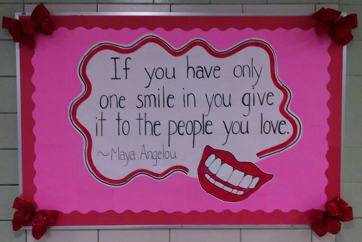 Smile / valentine's day bulletin board | Classroom Finds | Pinterest
