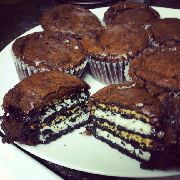Oreo Peanut Butter Brownie Cakes | ...FOOD... | Pinterest