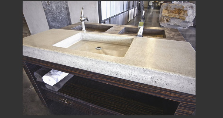 Concrete Countertop With Integrated Sink Torquay