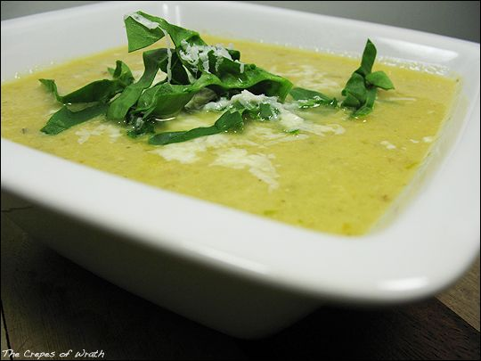 Creamy soup made with fresh roasted asparagus, spinach, onion, and ...