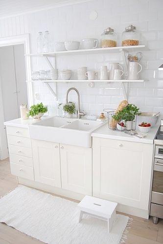 All white kitchen home decor ideas pinterest for All white kitchen designs
