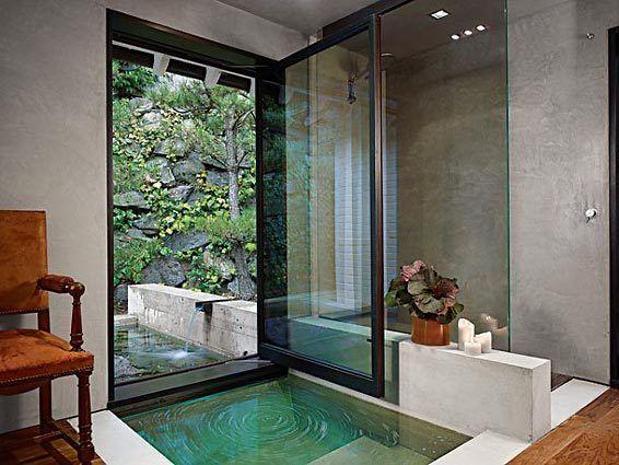 Indoor Outdoor Bathroom My Dream Home Wish List Pinterest