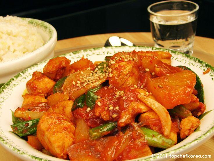 Spicy Chicken Stew (Dak Doh Ree Tang 닭도리탕) | Top Chef Korea ...