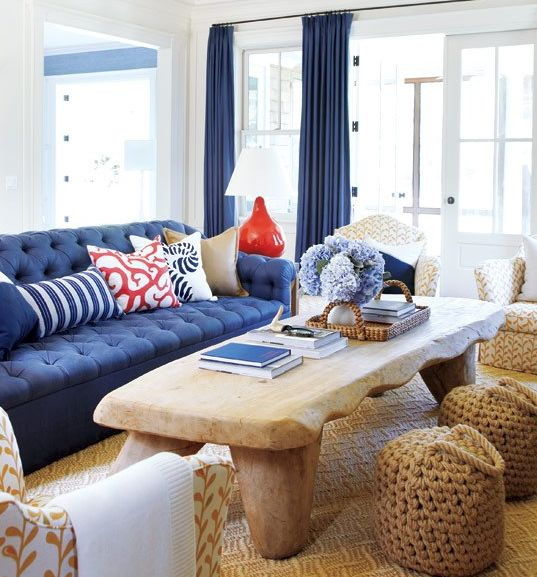 Navy and coral living room decor pinterest for Coral living room ideas