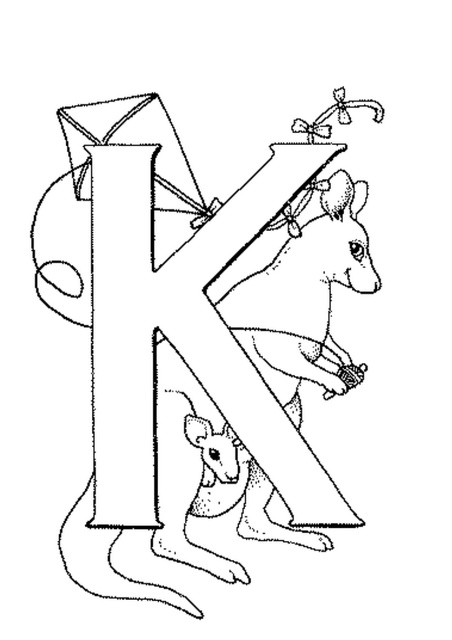 letter k worksheets and coloring pages