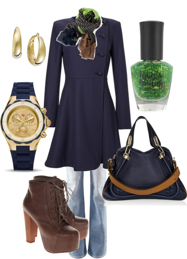 Great Navy Coat, created by wishesndreams on Polyvore