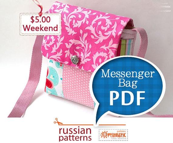 Tote Bag Pattern: Messenger Bag Sewing Instructions