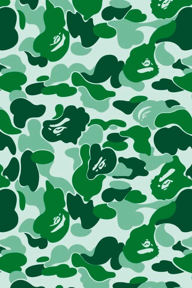 green bape patterns bape hintergrundbilder f252r iphone