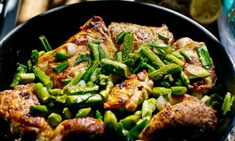 ... Hartnett's pot-roasted chicken with lemon, spring onions and ginger