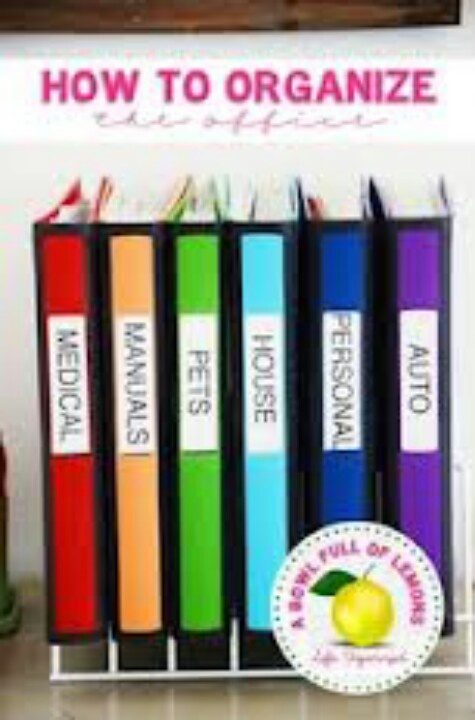 Organize with Binders. | organized home | Pinterest
