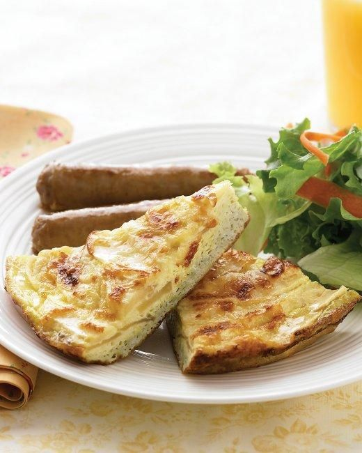 Apple-and-Cheddar Frittata Recipe Recipe | Breakfast and Brunch Recip ...