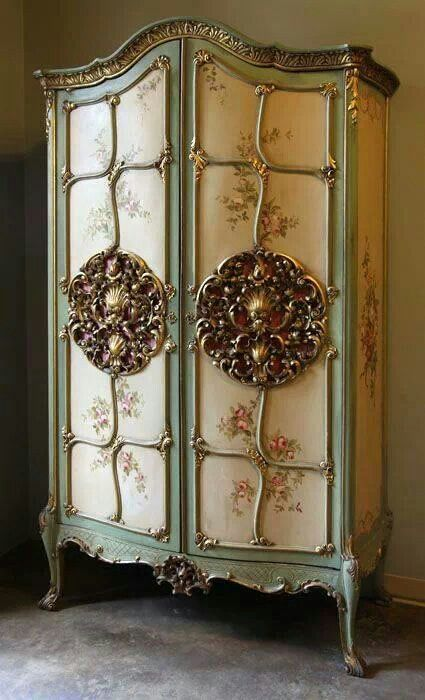 vintage armoire antique furniture pinterest. Black Bedroom Furniture Sets. Home Design Ideas