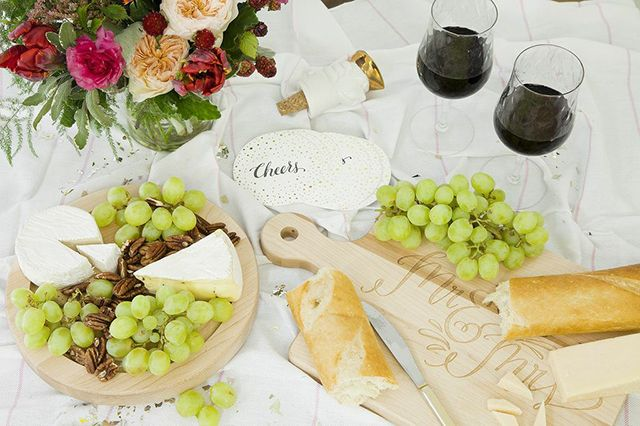 Wine & cheese spread!