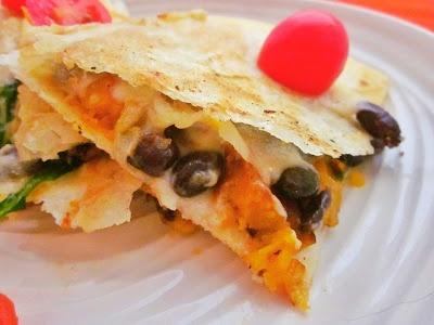 butternut bean and kale quesadillas | food | Pinterest