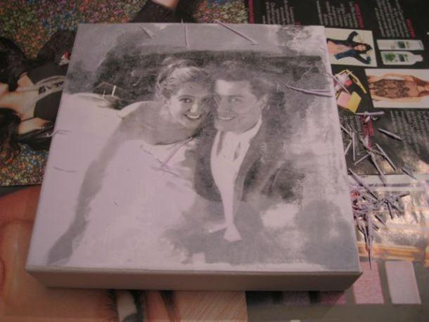 transfert photo via gel medium sur toile craft board