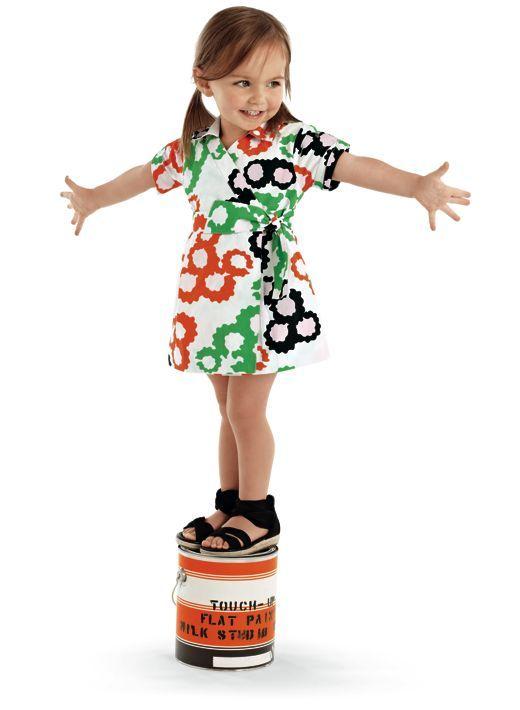 Dress by DVF x Gap Kids via realliferunway #Kids #Dress #DVF #Gap #realliferunway