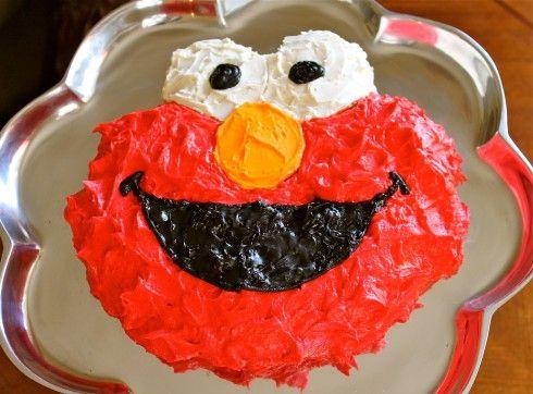 Elmo Cake Tutorial for Dummies (without an Elmo Cake Pan)