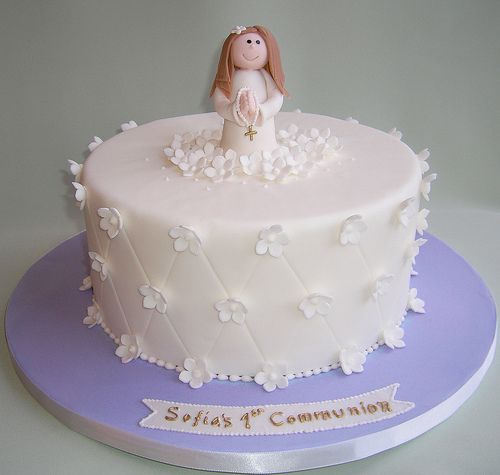 First Communion Cake ...so simple!!!