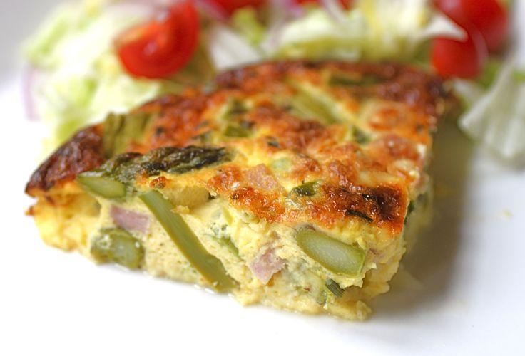 Crustless Asparagus Quiche   The Seasonal Gourmet   Pinterest