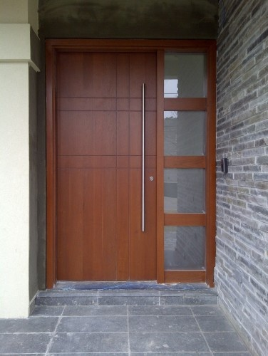 Wood glass front door entry pinterest - Entrance door designs wooden ...