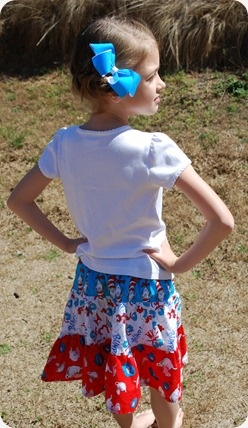 Dr. Seuss skirt @SewSweetCottage.blogspot.com