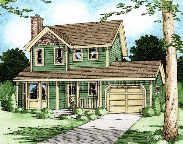 Country Craftsman House Plan 90951