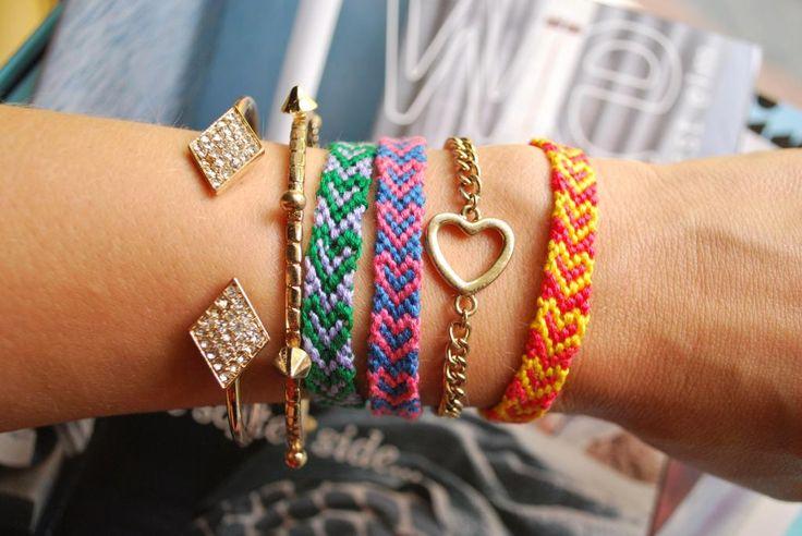 Diy heart friendship bracelets craft ideas pinterest