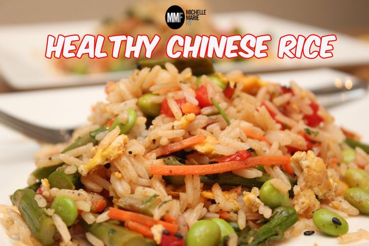 REALLY? Chinese rice thats #healthy. Its like takeout but better and ...