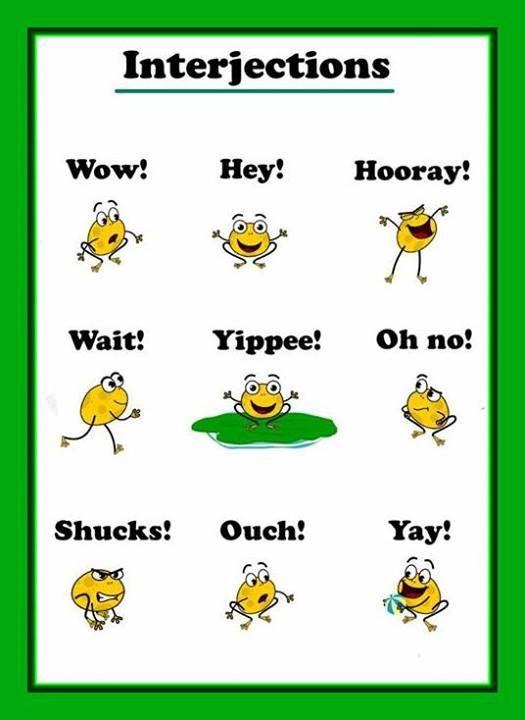 Interjections : EFL Vocabulary : Pinterest